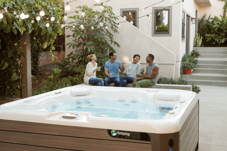 Outdoor Hot Tub Landscaping Ideas To Integrate Your Home Spa Extraordinary Bathroom With Hot Tub Creative