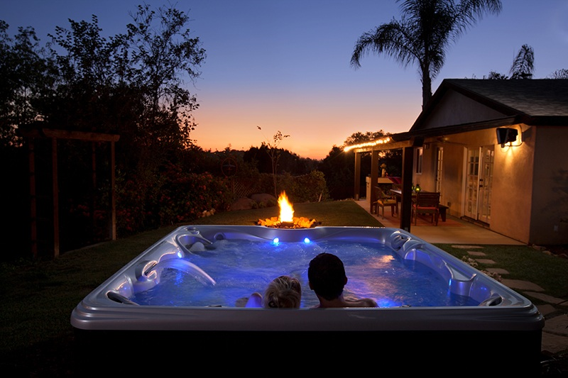 Let all of your senses get involved during your romantic hot tub soak.