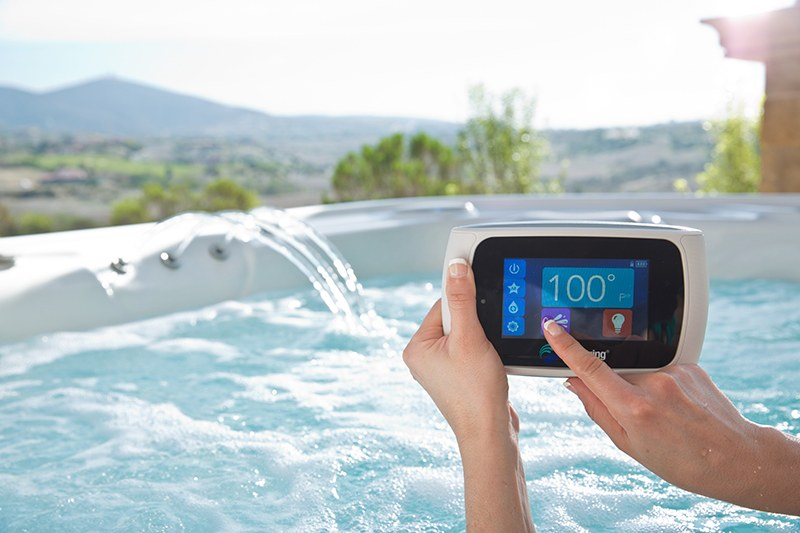 Hot tub innovations include wireless control panels.
